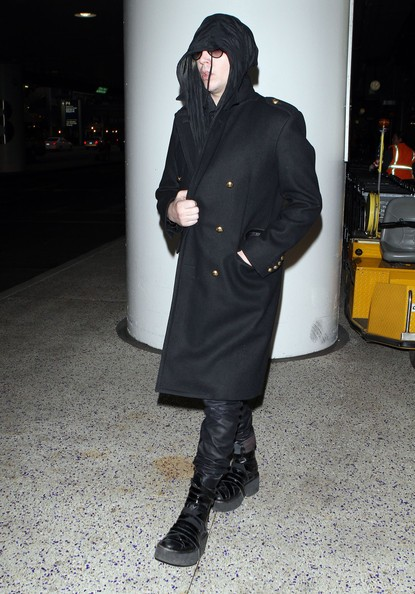 Marilyn Manson all'aeroporto di Los Angeles