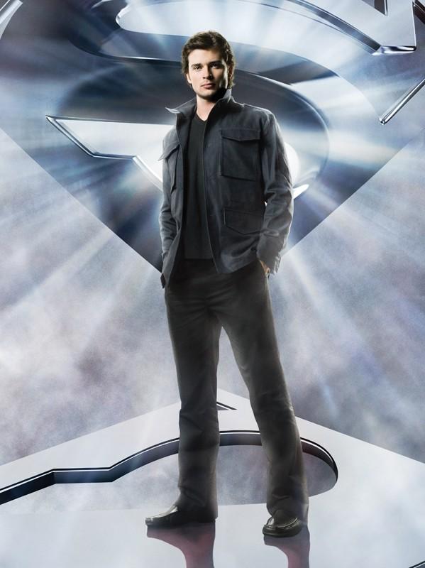 Un'immagine promo di Tom Welling utilizzata per un poster di Smallville