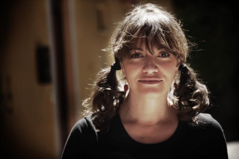 Paola Randi sul set del film Into Paradiso (2010)