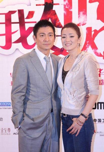 Andy Lau e Gong Li all'anteprima del film I Know a Woman's Heart nel Beijing