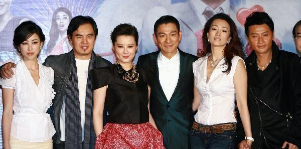 Andy Lau e Gong Li con il regista Chen Daming e il cast all'anteprima nazionale di What Women Want