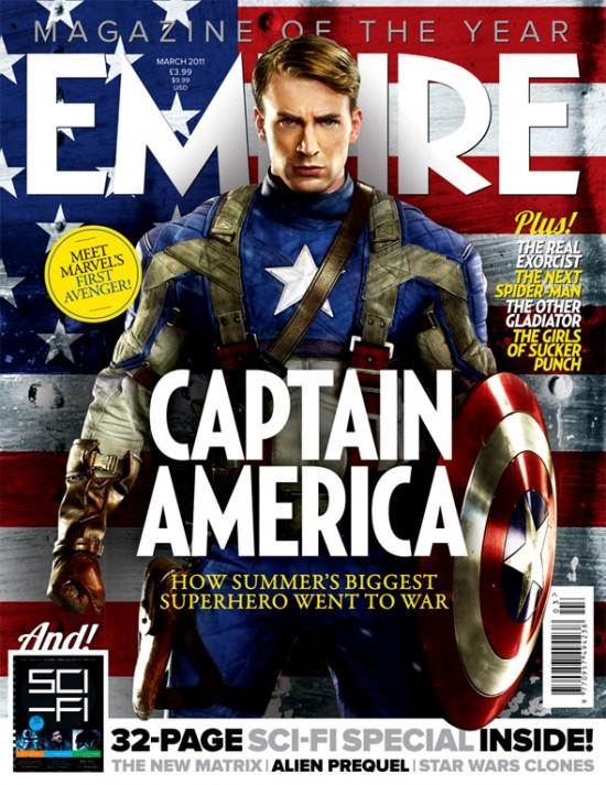 La copertina di Empire dedicata a Captain America: il primo vendicatore