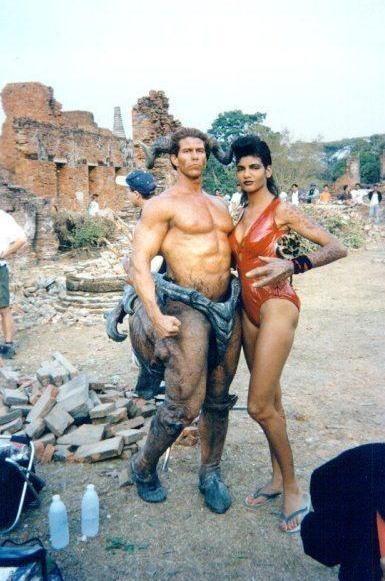 Marjean Holden e Deron McBee sul set di Mortal Kombat - Distruzione totale