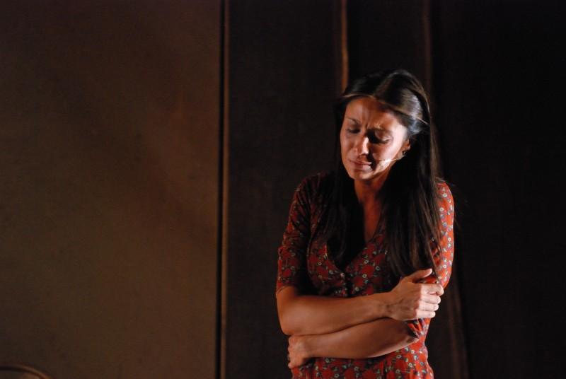 Morgana Forcella in scena con Il giorno della Civetta