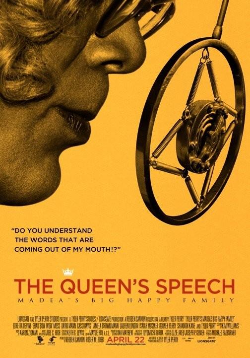 La locandina di Madea's Big Happy Family a tema The King's Speech