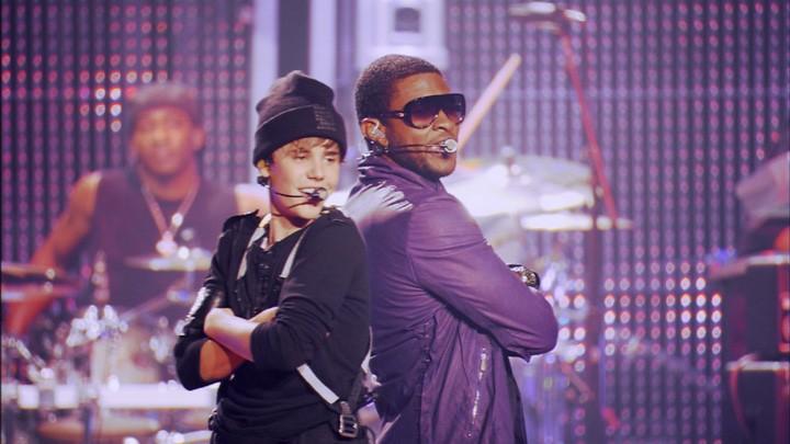 Justin Bieber con Usher in Justin Bieber: Never Say Never