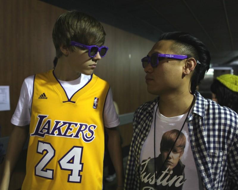 Justin Bieber in un momento di Justin Bieber: Never Say Never