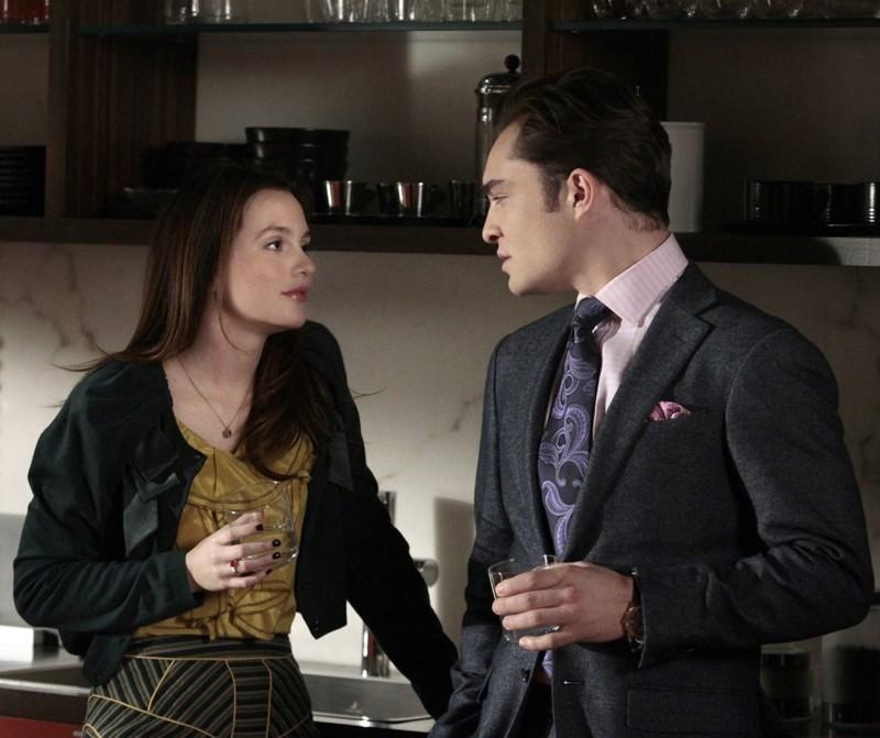 Blair (Leighton Meester) e Chuck (Ed Westwick) nell'episodio Panic Roommate di Gossip Girl