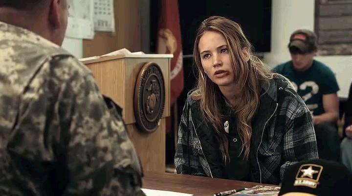 Jennifer Lawrence in una sequenza del film Winter's Bone
