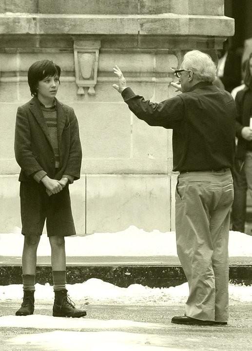 Martin Scorsese dirige  Asa Butterfield nel suo Hugo Cabret