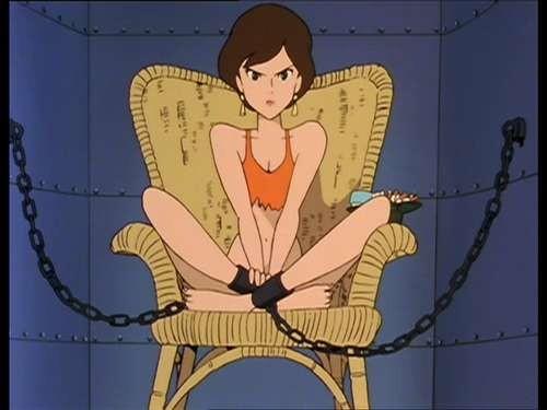 Fujiko (Margot) in una scena del 145esimo episodio de Le nuove avventure di Lupin III