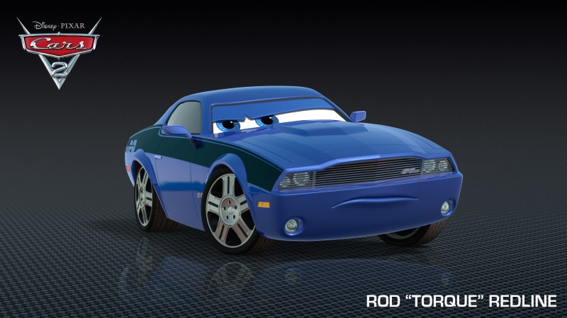 Un'immagine promo di Rod 'Torque' Redline, da Cars 2