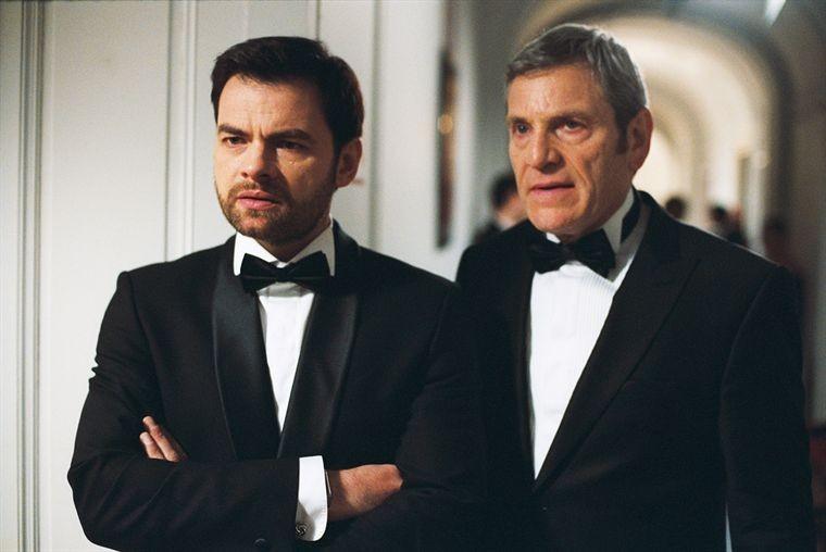Xavier Gallais con Tchéky Karyo nel film Requiem pour une tueuse