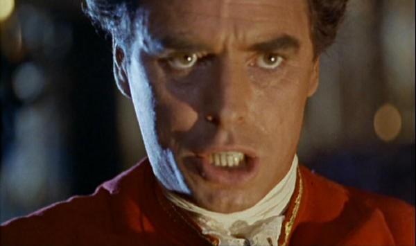 David Oxley in una scena del film La furia dei Baskerville