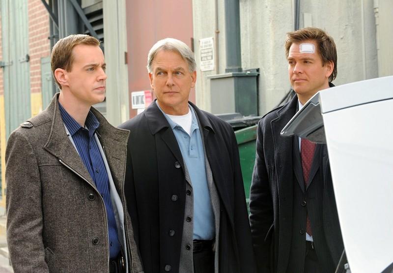 Sean Murray, Mark Harmon e Michael Weatherly nell'episodio Defiance di NCIS