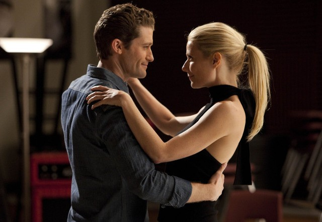 Matthew Morrison e Gwyneth Paltrow nell'episodio Sexy di Glee