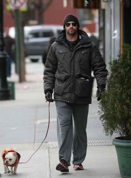 Hugh Jackman e il suo cane Peaches per una passeggiata