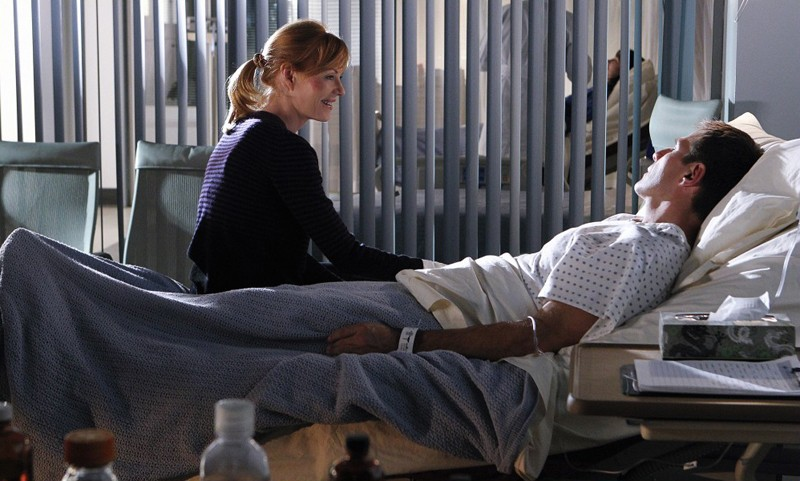 Catherine (Marg Helgenberger) nell'episodio Targets of Obsession di CSI: Scena del crimine