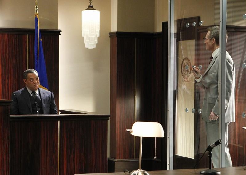 Laurence Fishburne e Bill Irwin nell'episodio Targets of Obsession di CSI: Scena del crimine