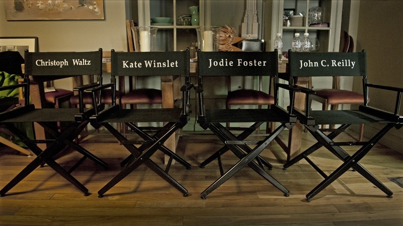 Ecco le sedie del cast di God of Carnage