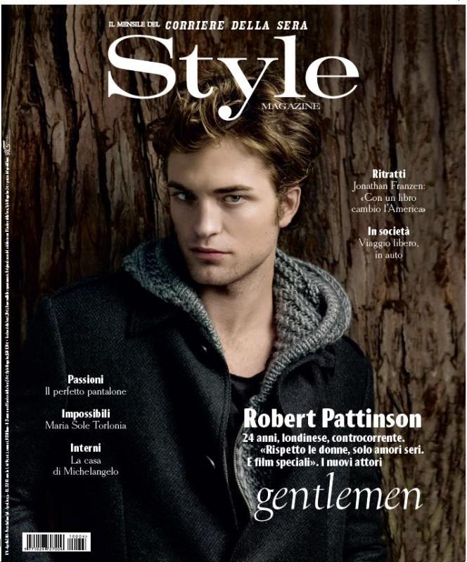 Robert Pattinson sulla cover di Style (aprile 2011)
