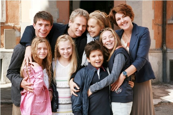 Una foto di gruppo di Un medico in famiglia 7