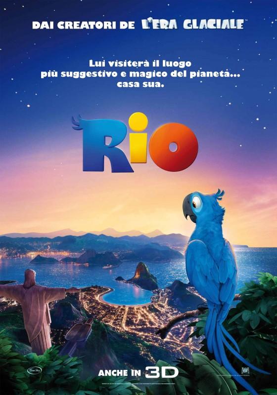 Poster italiano per il film d'animazione Rio