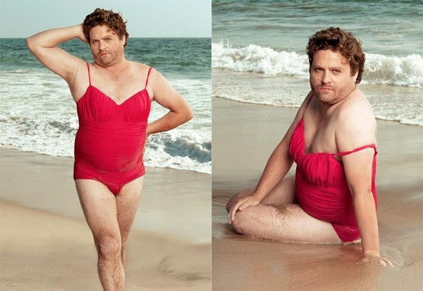 Zach Galifianakis in versione pin-up