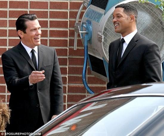 Josh Brolin e Will Smith sul set di Men in Black 3