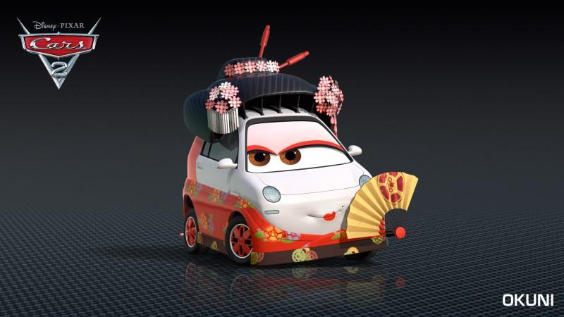 Un'immagine promo del personaggio di Okuni, da Cars 2