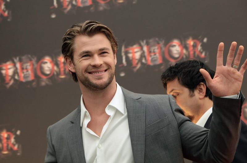 L'attore Chris Hemsworth presenta Thor a Roma nel 2011