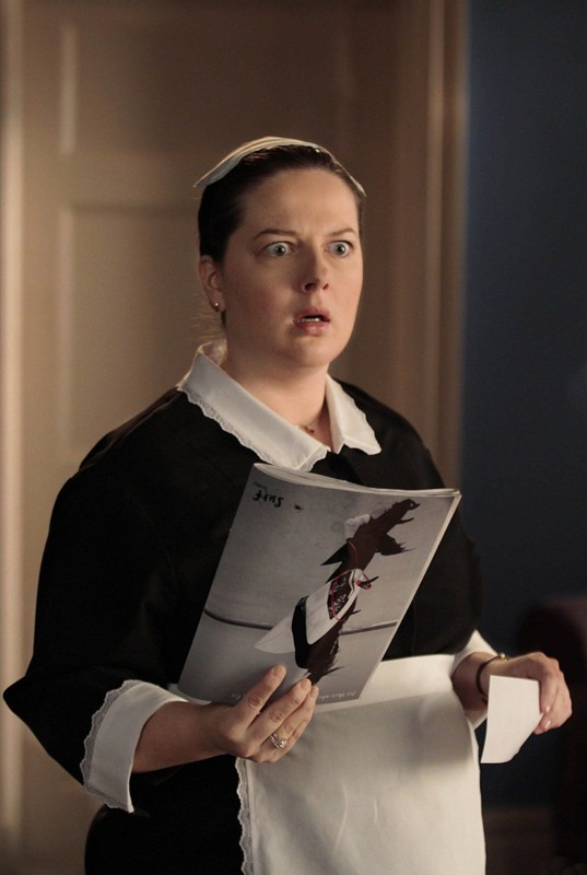 Dorota (Zuzanna Szadkowski) con un'espressione sorpresa nell'episodio Empire Of The Son di Gossip Girl