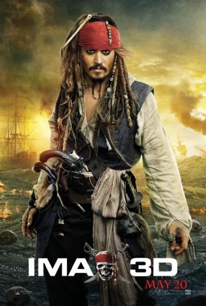 Ancora una locandina di Pirati dei Caraibi: Oltre i confini del mare dedicata a Jack Sparrow