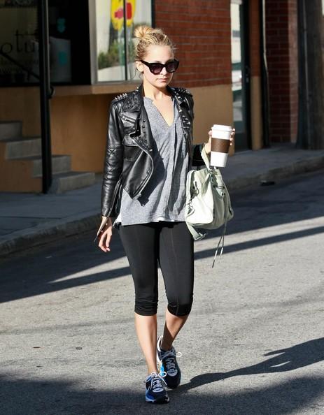 Nicole Richie esce dalla palestra dopo aver fatto attività fisica.