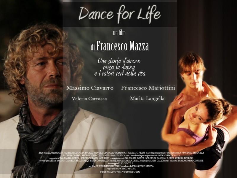 Una locandina orizzontale di Dance for Life