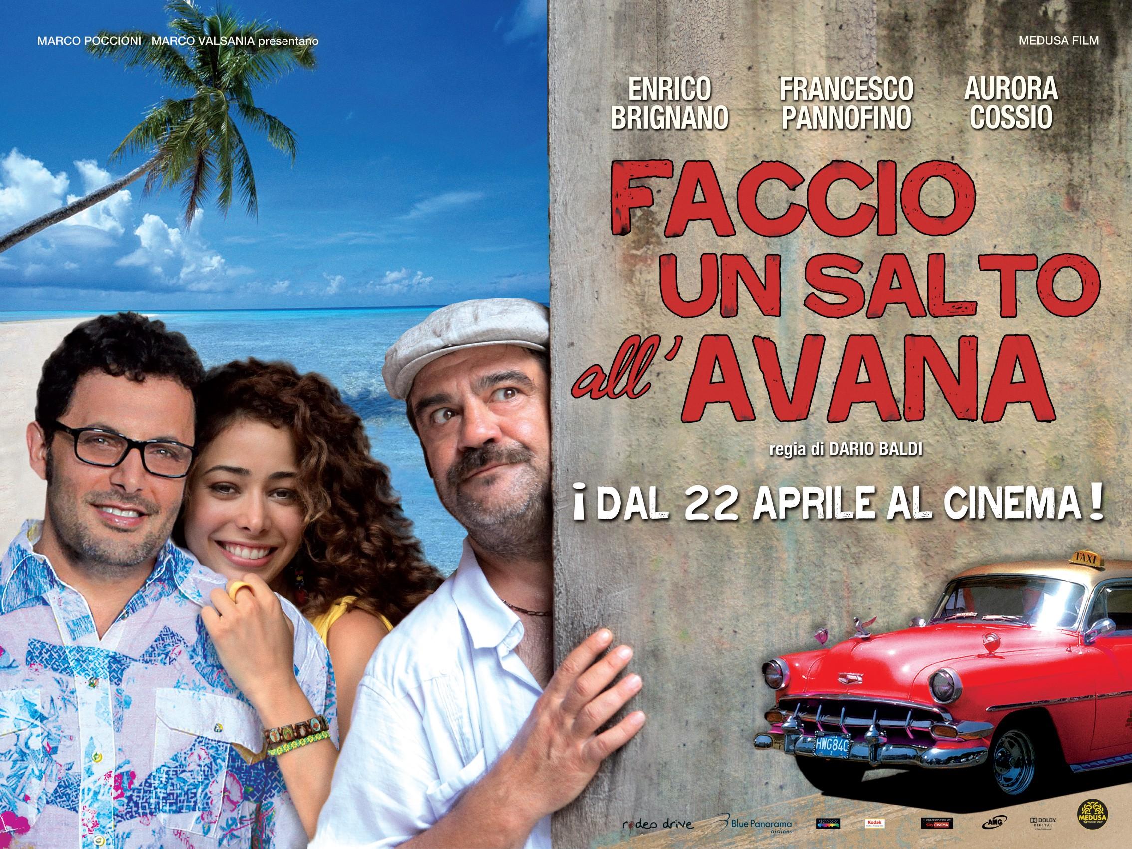 Enrico Brignano, Aurora Cossio e Francesco Pannofino nel wallpaper di Faccio un salto all'Avana