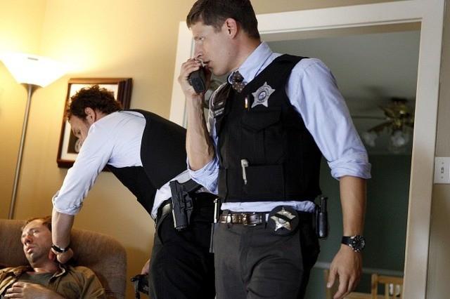 Jason Clarke e Matt Lauria nell'episodio Hog Butcher di The Chicago Code
