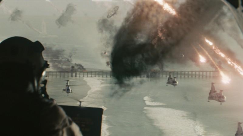 Una scena catastrofica del fantascientifico World Invasion, del 2011