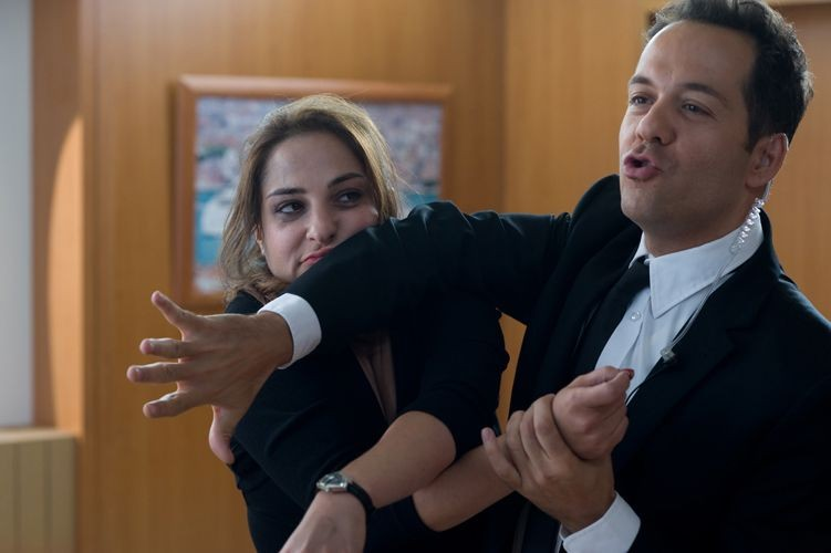 Stephane Debac con Marilou Berry in La croisiere