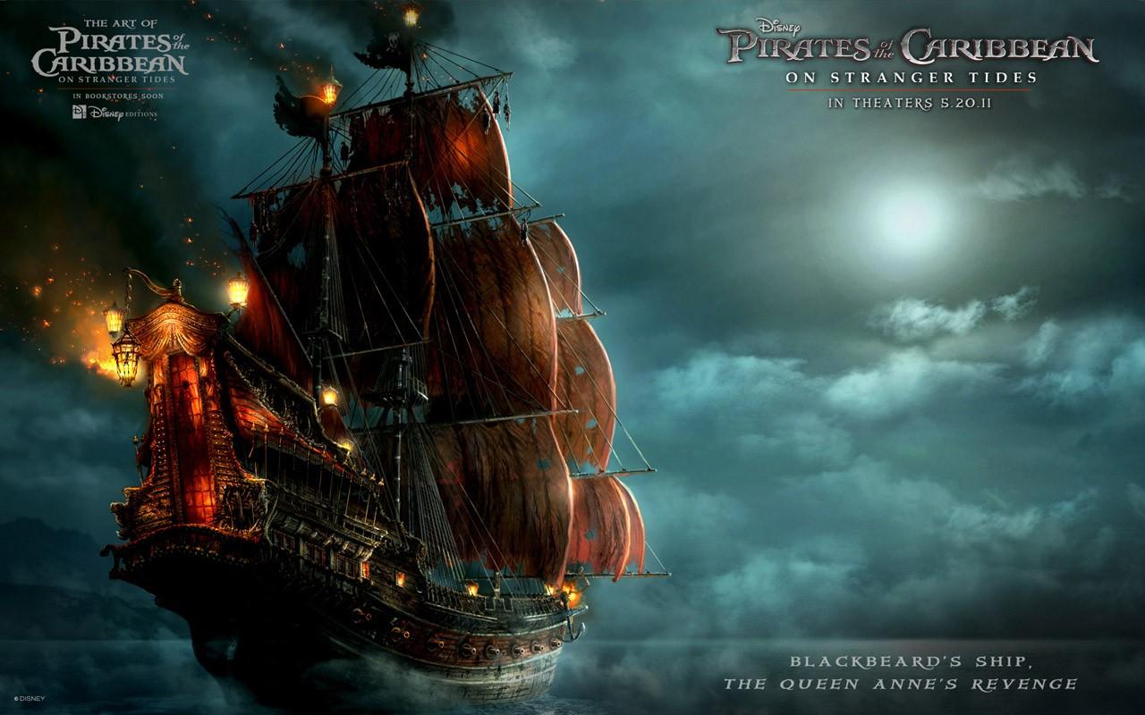 Un wallpaper per i Pirati dei Caraibi: Oltre i confini del mare - La nave di Barbanera