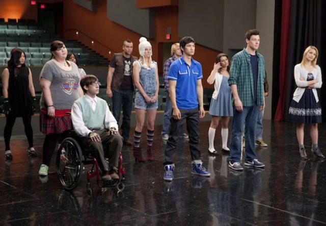 Una scena dell'episodio Born This Way di Glee