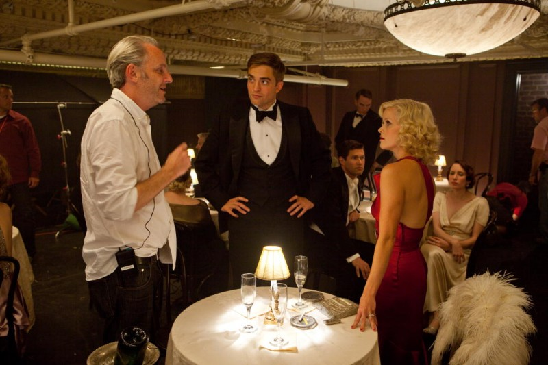 Francis Lawrence con Reese Witherspoon e Robert Pattinson sul set del film Come l'acqua per gli elefanti