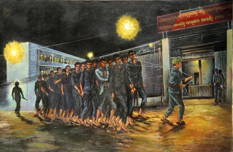 I prigionieri S21 in un'immagine del documentario Le Maitre des Forges de l'Enfer