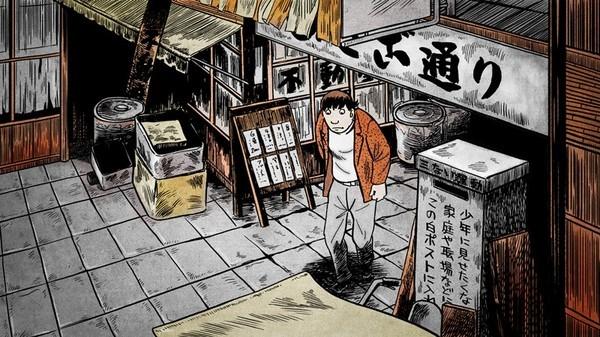 Una sequenza del film d'animazione Tatsumi (2011)