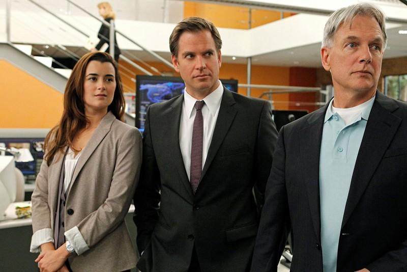 Cote de Pablo,Michael Weatherly e Mark Harmon nell'episodio Dead Reflection di NCIS