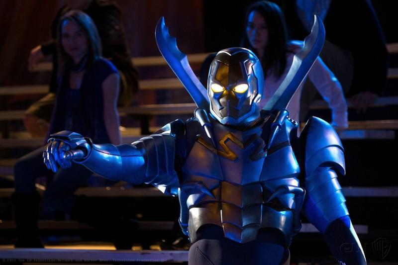 Blue Beetle interpretato da Jaden Brandt Bartlett nell'episodio Booster di Smallville