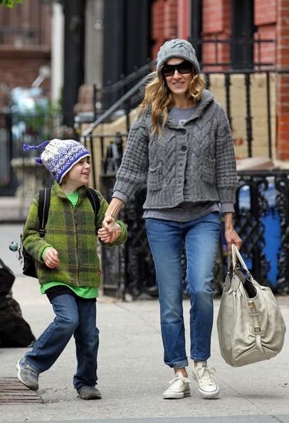 Sarah Jessica Parker prende il figlio James Wilkie da scuola