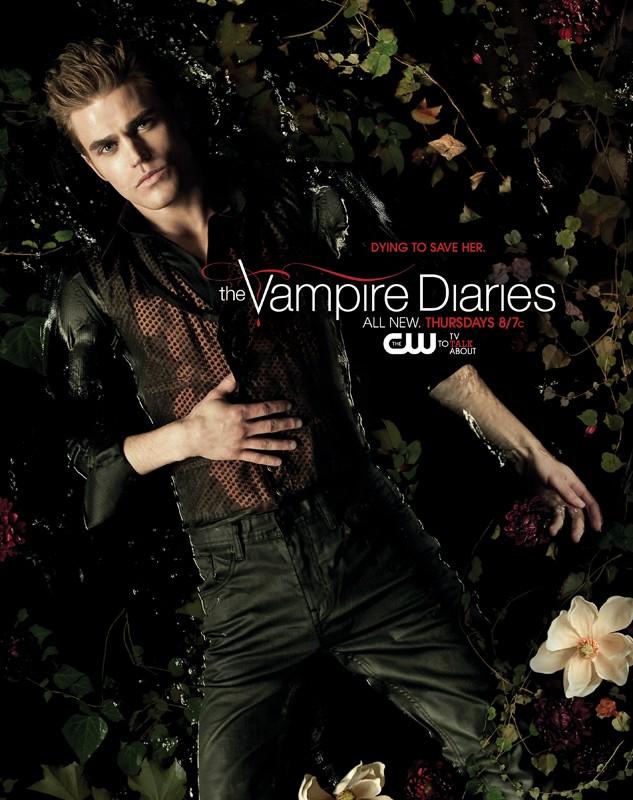 Un character poster con Paul Wesley sdraiato in acqua per la season 2 di Vampire Diaries