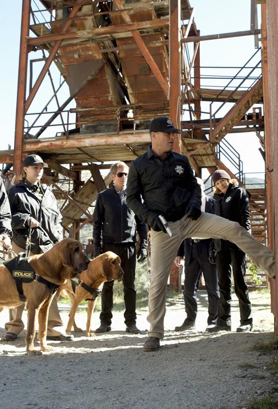 Una sequenza dell'episodio The List di CSI: Scena del crimine con M. Helgenberger, E. Szmanda e G. Eads