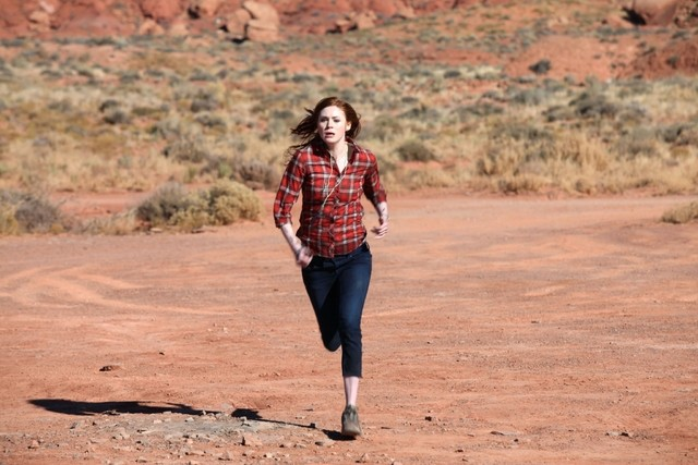 Doctor Who: Karen Gillan in un momento dell'episodio Day Of The Moon